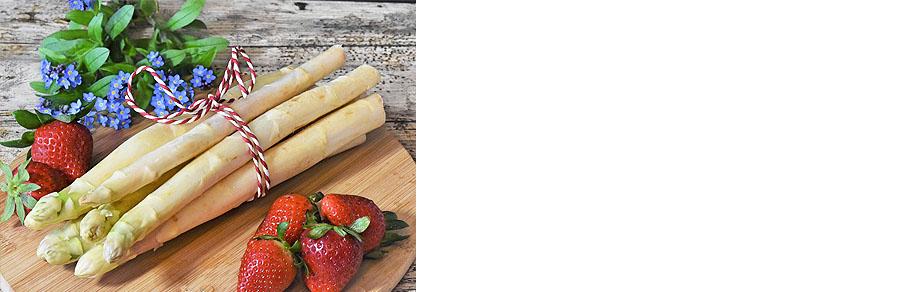 Spargel und Erdbeeren - eine leckere Kombination